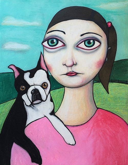girl-with-dog